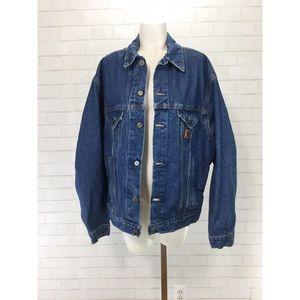 Vintage 80s Carhartt Denim Jacket Large USA Coat